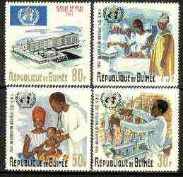 Guinea - Conakry 1967 Inauguration of World Health Organisation set of 4 unmounted mint, SG 574-77*