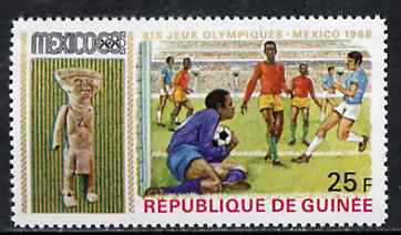 Guinea - Conakry 1969 Football 25f unmounted mint from Mexico Olympics set, SG 677, Mi 515*