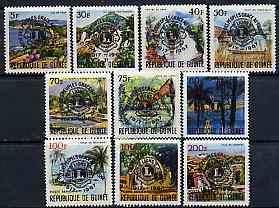 Guinea - Conakry 1967 50th Anniversary of Lions International set of 10 unmounted mint, SG 613-22, Mi 447-56*