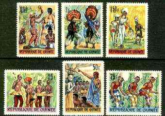 Guinea - Conakry 1966 National Ballet set of 6 unmounted mint, SG 561-66, Mi 396-401*