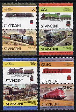 St Vincent 1984 Locomotives #3 (Leaders of the World) set of 8 unmounted mint SG 834-41
