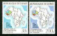 Guinea - Conakry 1970 River Riparian States set of 2 unmounted mint, SG 717-18, Mi 559-60*