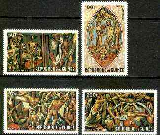 Guinea - Conakry 1967 Venetti's World of Tomorrow Mural set of 4 unmounted mint, SG 623-26, MI 457-60*