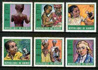 Guinea - Conakry 1970 Campaign against Smallpox & Measles perf set of 6 unmounted mint, SG 711-16, MI 553-58*