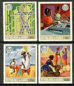 Guinea - Conakry 1969 50th Anniversary of ILO perf set of 4 unmounted mint, SG 707-10, Mi 549-52*