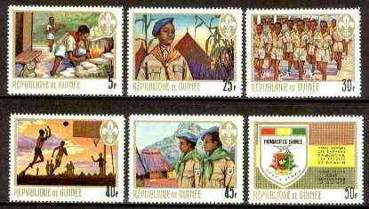 Guinea - Conakry 1969 Pioneer Youth Organisation (Scouts) set of 6 unmounted mint, SG 693-98, Mi 536-41*