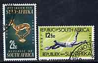 South Africa 1964 75th Anniversary of South African Rugby Board set of 2 fine used SG 252-3