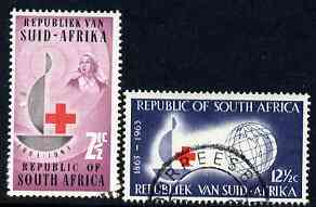 South Africa 1963 Centenary of Red Cross set of 2 fine used SG 225-6