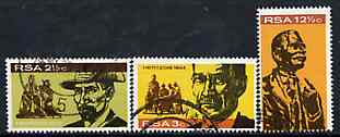 South Africa 1968 Inauguration of Gen Hertog Monument set of 3 fine used SG 273-5
