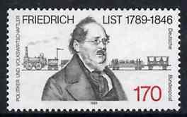 Germany - West 1989 Birth Cent of Friedrich List (Economist) unmounted mint SG 2285