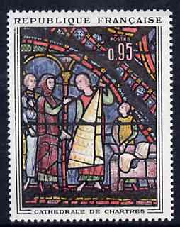 France 1963 The Fur Merchants stained glass window from Art set unmounted mint, SG 1605*
