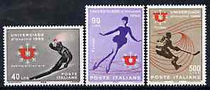 Italy 1966 Winter Sports set of 3 unmounted mint SG 1150-52