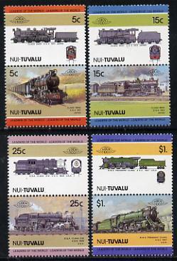 Tuvalu - Nui 1985 Locomotives #2 (Leaders of the World) set of 8 unmounted mint