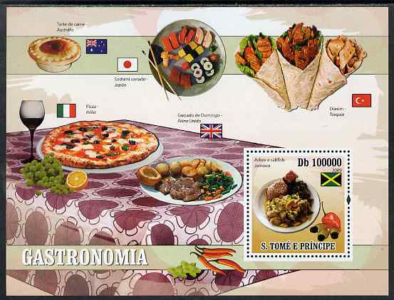 St Thomas & Prince Islands 2009 Dishes of the World - Saltfish perf s/sheet unmounted mint