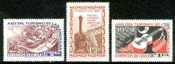 Chile 1972 Tourism Year of the Americas set of 3 unmounted mint, SG 702-4*