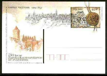 Poland 1999 750 Years of Royal Castle of Poznan illustrated 60gr postal stationery card in pristine condition