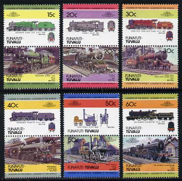 Tuvalu - Funafuti 1984 Locomotives #1 (Leaders of the World) set of 12 unmounted mint