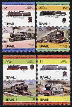 Tuvalu 1984 Locomotives #3 (Leaders of the World) set of 8 unmounted mint, SG 273-80