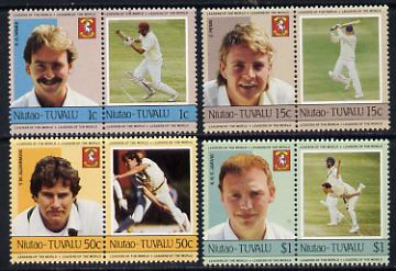 Tuvalu - Niutao 1985 Cricketers (Leaders of the World) set of 8 unmounted mint