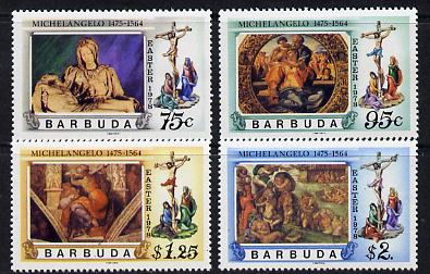Barbuda 1978 Easter works by Michelangelo set of 4 unmounted mint, SG 390-3