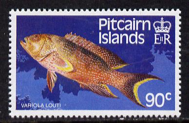 Pitcairn Islands 1988 Fish 90c with wmk s/ways inverted SG 312Ei (blocks & gutter pairs available pro rata) unmounted mint