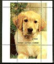 Batum 1996 Golden Retriever perf souvenir sheet unmounted mint