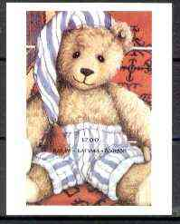 Batum 1996 Teddy Bears imperf souvenir sheet (1200 value) unmounted mint