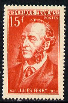 France 1951 Jules Ferry (Statesman) unmounted mint SG 1108*