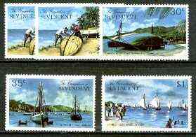 St Vincent - Grenadines 1974 Bequia Island #1 set of 5 (incl both 5c) unmounted mint, SG 30-34*