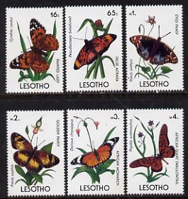 Lesotho 1990 Butterflies six values (16s & 65s to 4M) unmounted mint SG 950 & 952-6