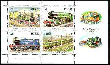 Ireland 1984 150th Anniversary of Irish Railways m/sheet unmounted mint, SG MS 581