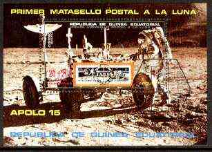 Equatorial Guinea 1971 Apollo 15 perf m/sheet 25+200p very fine cto used