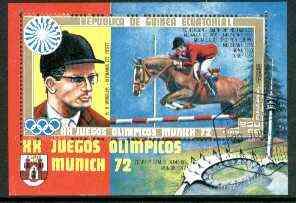 Equatorial Guinea 1972 Munich Olympics (H G Winkler) perf m/sheet fine cto used, Mi BL 13