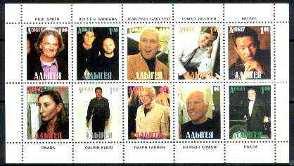 Adigey Republic 1999 Fashion Designers sheetlet containing complete set of 10 values unmounted mint