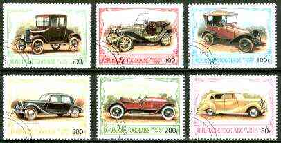 Togo 1999 Classic Cars complete set of 6 values fine cto used*