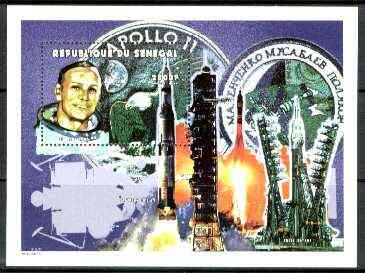 Senegal 1999 Space Travel perf miniature sheet, unmounted mint