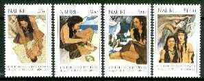 Nauru 1990 Legend of Eoiyepiang, the Daughter of Thunder & Lightning set of 4 unmounted mint, SG 387-90*