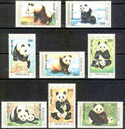 Mongolia 1990 The Giant Panda complete set of 8 unmounted mint, SG 2129-36*