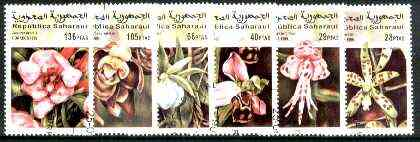 Sahara Republic 1999 Orchids complete set of 6 fine cto used*