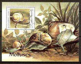 Afghanistan 1999 Molluscs m/sheet fine cto used, stamps on marine life, stamps on shells