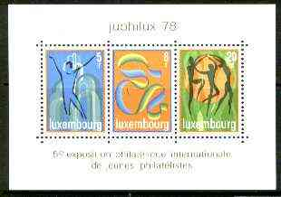 Luxembourg 1978 'Juphilux 78' Junior Int Stamp Exhibition m/sheet unmounted mint, SG MS 1003