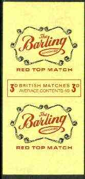 Match Box Labels - Barling Pipes 'All Round the Box' matchbox label in superb unused condition