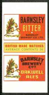 Match Box Labels - Barnsley Bitter (Acorns) 'All Round the Box' matchbox label in superb unused condition