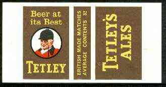 Match Box Labels - Tetley Ales (Hunt Master) 'All Round the Box' matchbox label in superb unused condition
