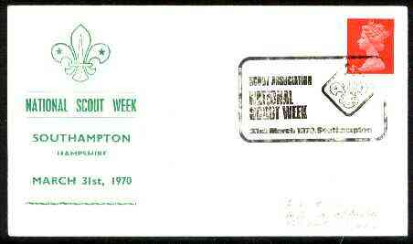 Great Britain 1970 Commemorative cover for Southampton National Scout Week with special illustrated cancel