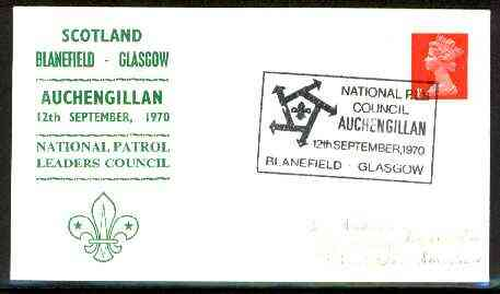 Great Britain 1970 Commemorative cover for Auchengillan National Patrol Leaders Council with special illustrated cancel
