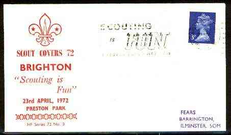 Great Britain 1972 Commemorative cover for Brighton Scout Covers 72 with special 'Scouting is Fun' cancel