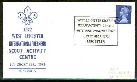 Great Britain 1972 Commemorative cover for West Leicester International Weekend with special cancel