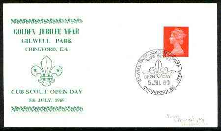 Great Britain 1969 Commemorative cover for Gilwell Park Golden Jubilee with special 'Cub Scout Open Day' cancel