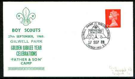 Great Britain 1969 Commemorative cover for Gilwell Park Golden Jubilee with special 'Father & Son Camp' cancel
